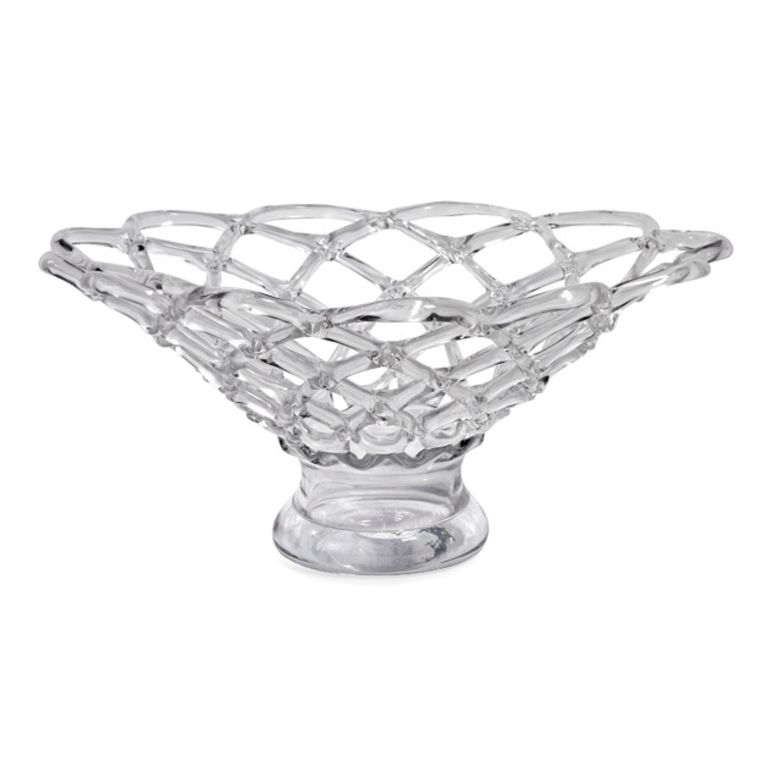 """21"""" Luxurious Large Weaved Decorative Hand Blown Glass Bowl by CC Home Furnishings"""