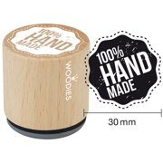 """Woodies Mounted Rubber Stamp 1.35""""-100% Handmade"""
