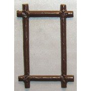 Dollhouse Picture Frame, Rect Log, Brown