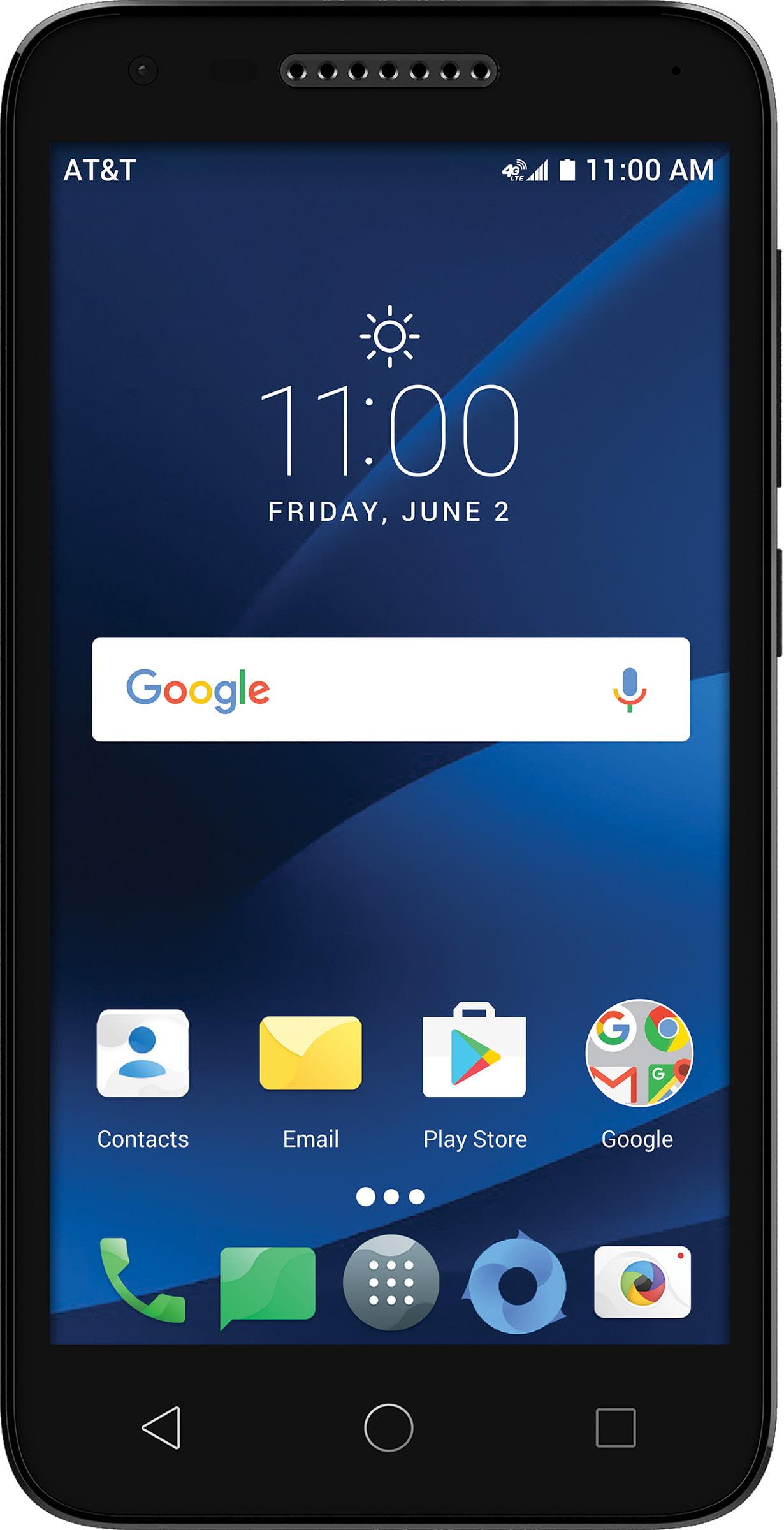 AT&T PREPAID Alcatel idealXCITE 8GB Prepaid Smartphone, Black