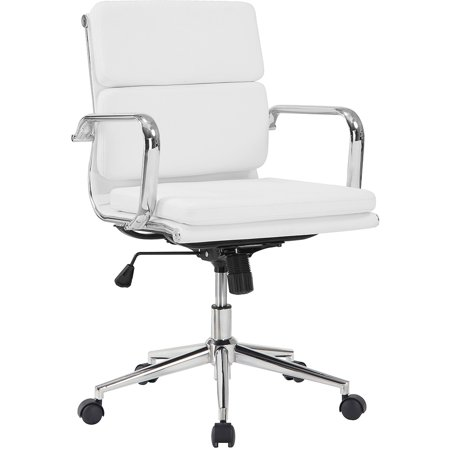 Coaster White Padded Office Chair