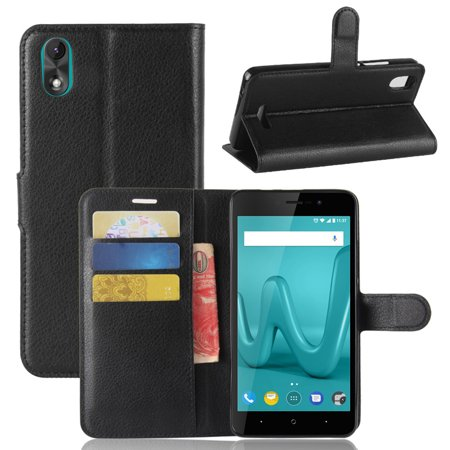 Magnetic TPU Leather Flip Stand Case Cover Skin Card Slot For Wiko Lenny 4 Plus - image 3 of 6