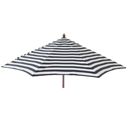 9ft Tilt Italian Market Umbrella Home Patio Canopy Sun Shelter - Black