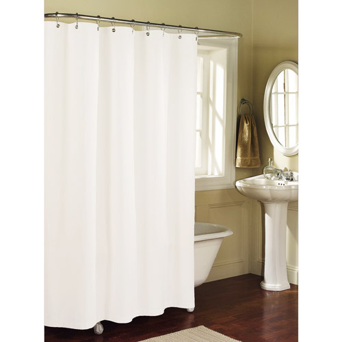 Mainstays Fabric Shower Curtain Liner, Arctic White