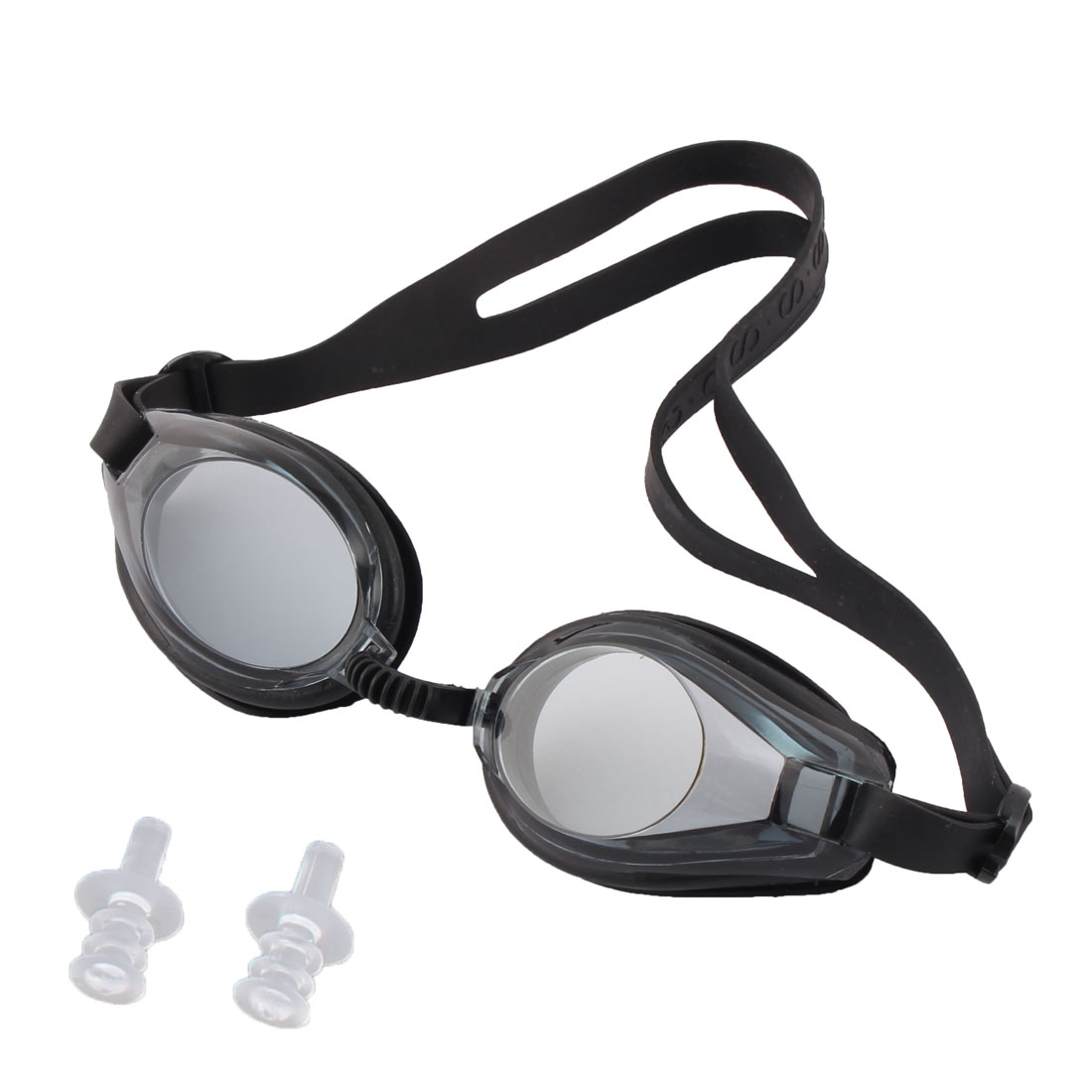 Unique Bargains Swimming Sports Aquafitness UV Protected Clear Swim Goggles w Ear Plugs For Kids by