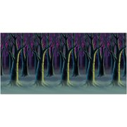 Spooky Forest Trees Backdrop Halloween Decoration