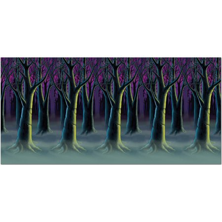 Spooky Homemade Halloween Decorations (Spooky Forest Trees Backdrop Halloween)