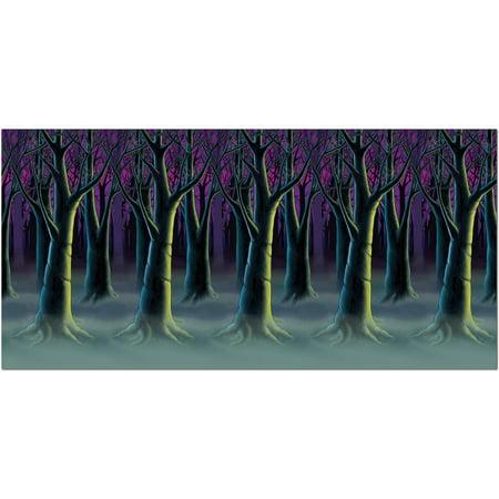 Spooky Forest Trees Backdrop Halloween - Dollar Tree Halloween Bags