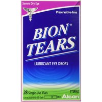 2 Pack Bion Tears Lubricant Eye Drops, Single-Use Vials - 56 Count