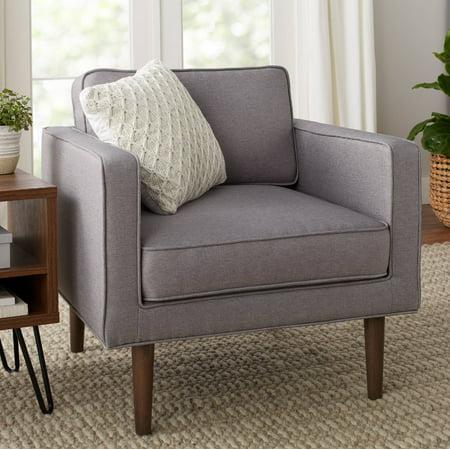 Mainstays Gordon Mid-Century Lounge Chair, Multiple Finishes ()