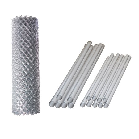 ALEKO Galvanized Steel Chain Link Fence - Complete Kit - 5 x 50 Feet