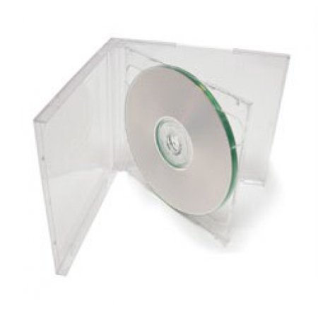 CheckOutStore 10 STANDARD Clear Double CD Jewel Case Double Clear Cd Jewel Cases