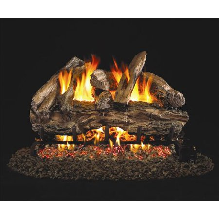 Real Fyre Charred Red Oak Vented Gas Logs, Logs Only, 30