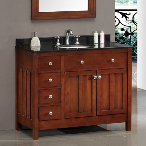 ove decors lyon 42'' single bathroom vanity set - walmart