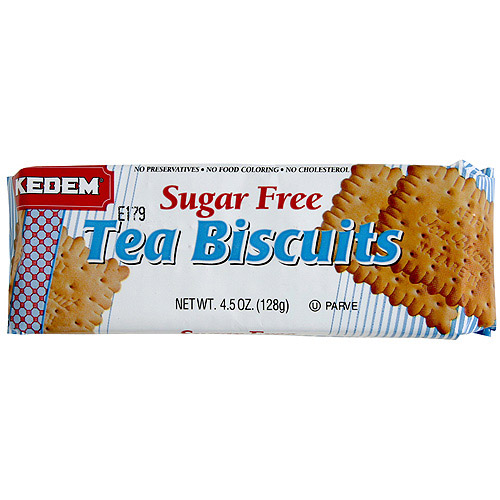 Kedem Plain Sugar Free Tea Biscuits, 4.5 oz (Pack of 24)