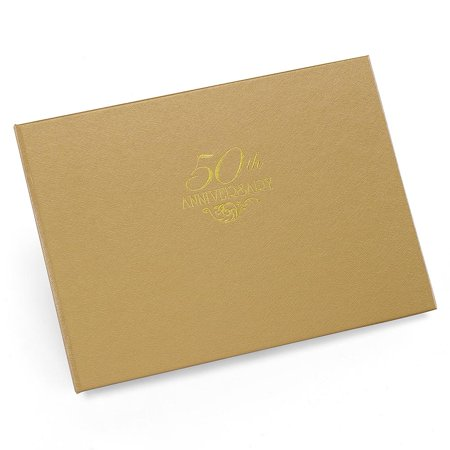 Gold 50th Anniverary Guest Book