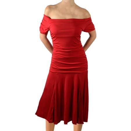 Funfash Plus Size Dress Apple Red Womens Plus Size Cocktail Dress