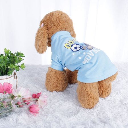 Pet T Shirt Spring Summer Dog Puppy Small Pet Cat Apparel Clothes Costume Vest Tops #16 Stripe Style, L - Pet Costumes For Small Dogs