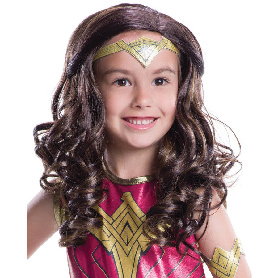 Batman Vs Superman: Dawn of Justice Child Wonder Woman Wig Halloween Costume Accessory