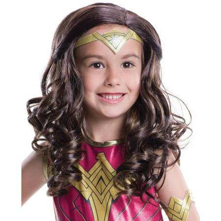 Batman Vs Superman: Dawn of Justice Child Wonder Woman Wig  Halloween Costume Accessory - Batman Vs Superman Wonder Woman Suit