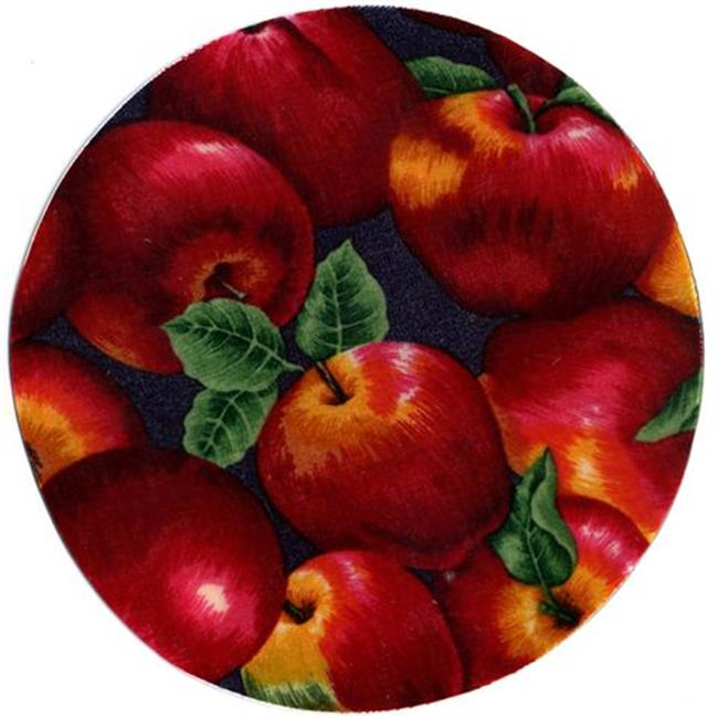 Andreas JO-1 Apple Round Silicone MatJar Opener - Pack of 3 trivets