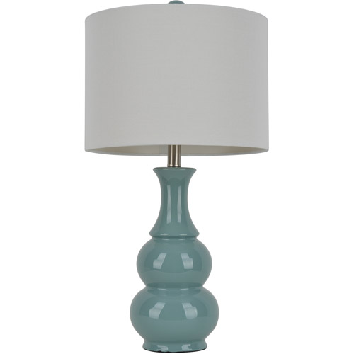 Dark Teal Double Gourd Ceramic Table Lamp