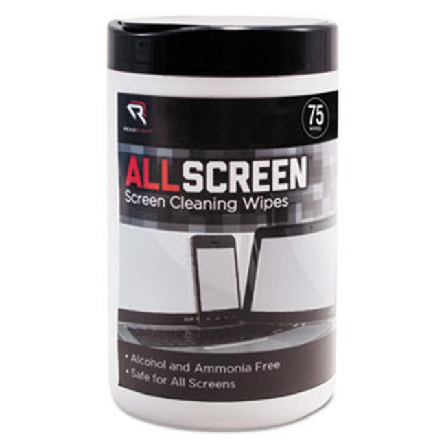 Read Right RR15045 6 x 6 in. AllScreen Screen Cleaning Wipes, White - 75 per Tub - image 1 of 1