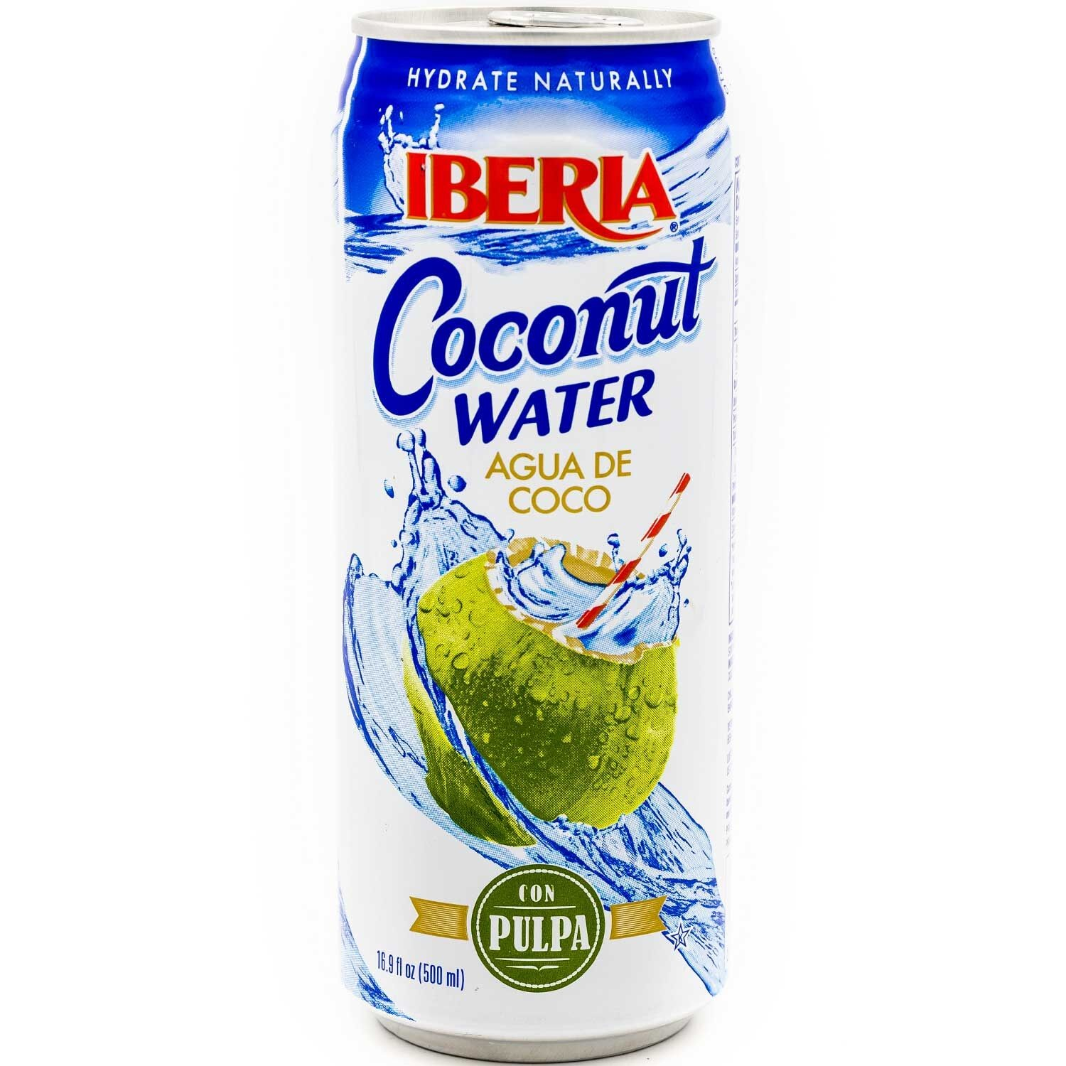 (5 Pack) Iberia Coconut Water, 16.9 Fl Oz, 1 Count
