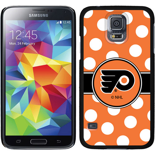 Philadelphia Flyers Polka Dots Design on Samsung Galaxy S5 Thinshield Case by Coveroo