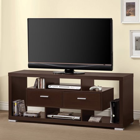 Coaster Contemporary Cappuccino TV Console for TVs up to 46″