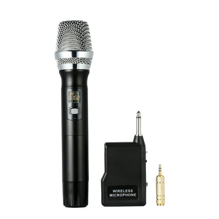 30 Handheld Dynamic Vocal Microphone - Wireless Microphone, Moreslan K8 UHF Handheld Microphone System, Dynamic Cordless Vocal Microphone with 6.35mm Plug Receiver for karaoke Singing Wedding