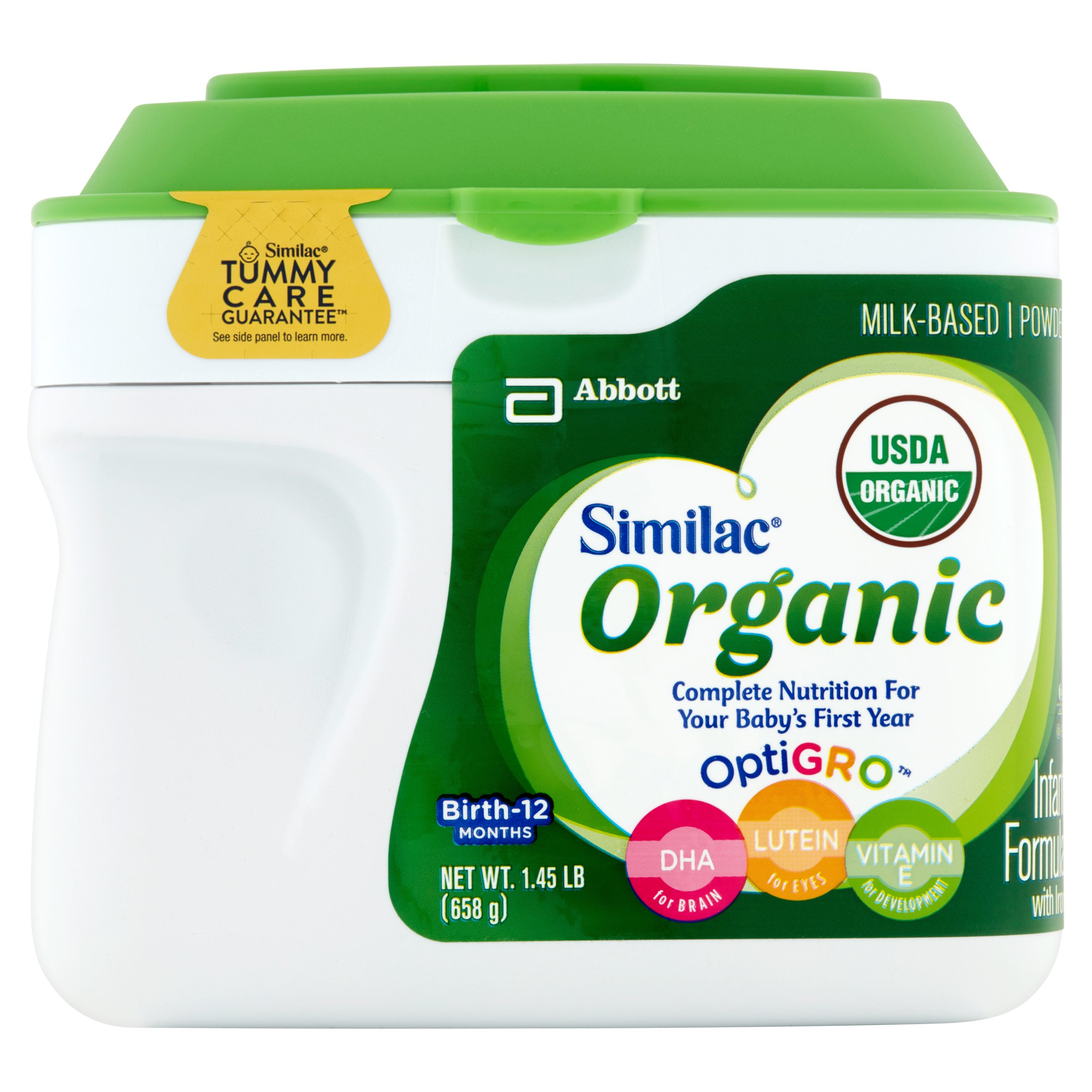 Similac Organic NON-GMO Infant Formula with Iron, Powder, 1.45 lb (Pack of 6) by Similac