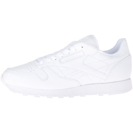 Reebok - Reebok Classic Leather Running Shoes - White (Men) - Walmart.com dc76b9671