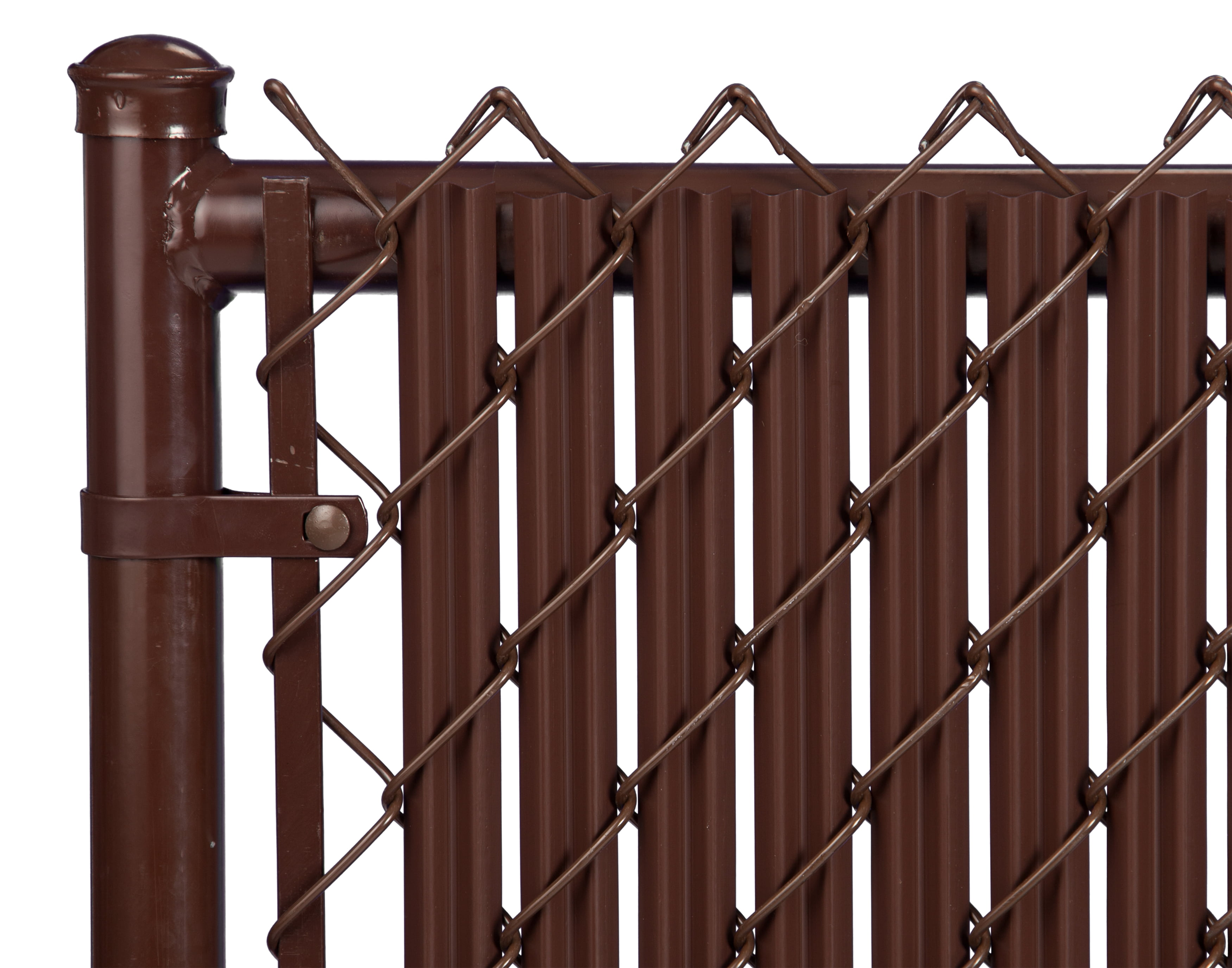 Brown 6ft Ridged Slat for Chain Link Fence by Supplier Generic