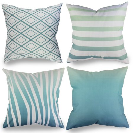 Tayyakoushi Throw Pillow Case Set Of 4 Geometric Pattern Decorative Cushion Cover 18x 18 New Living Series Home Decor