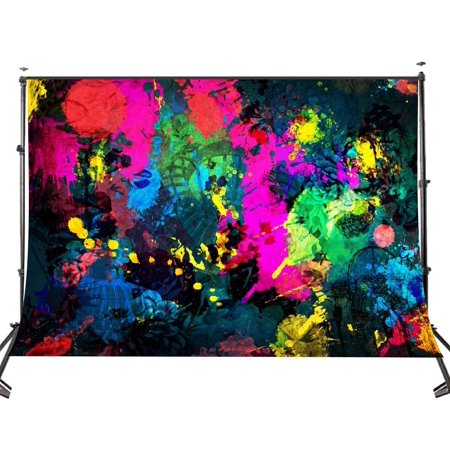 Graffiti Backdrop (HelloDecor Polyster 7x5ft Abstract Graffiti Painting Photography Backdrop Photo Game Video Studio Background Props)