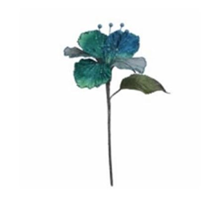 Copper Velvet Hibiscus Flower Pick - 6 & 21 in.