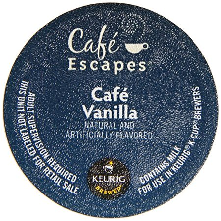 Keurig, Cafe Escapes, K-Cup packs Cafe Vanilla 72 Count ()