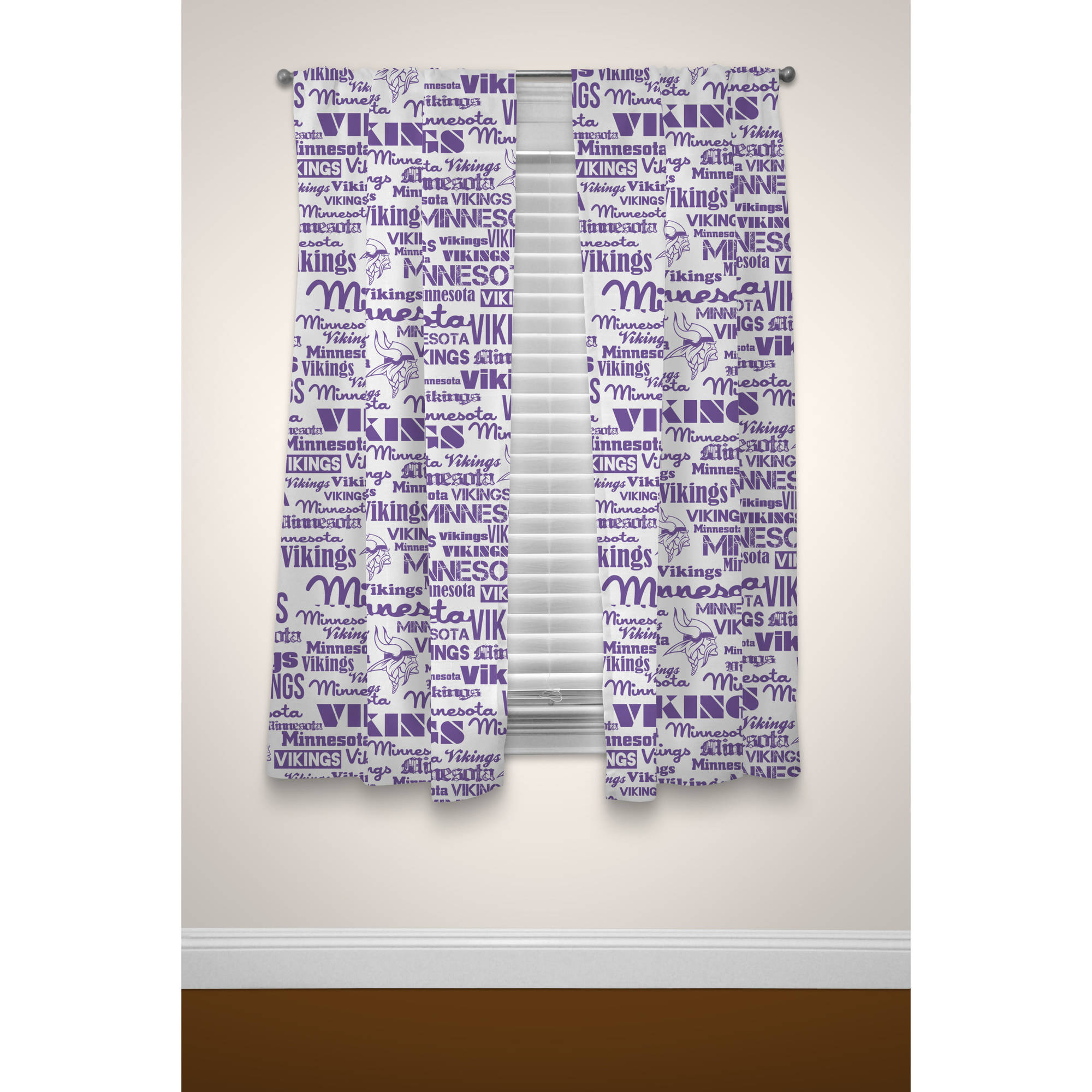 NFL Minnesota Vikings Window Curtain Panels