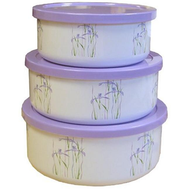 Corelle Shadow Iris 6 Piece Food Storage Set