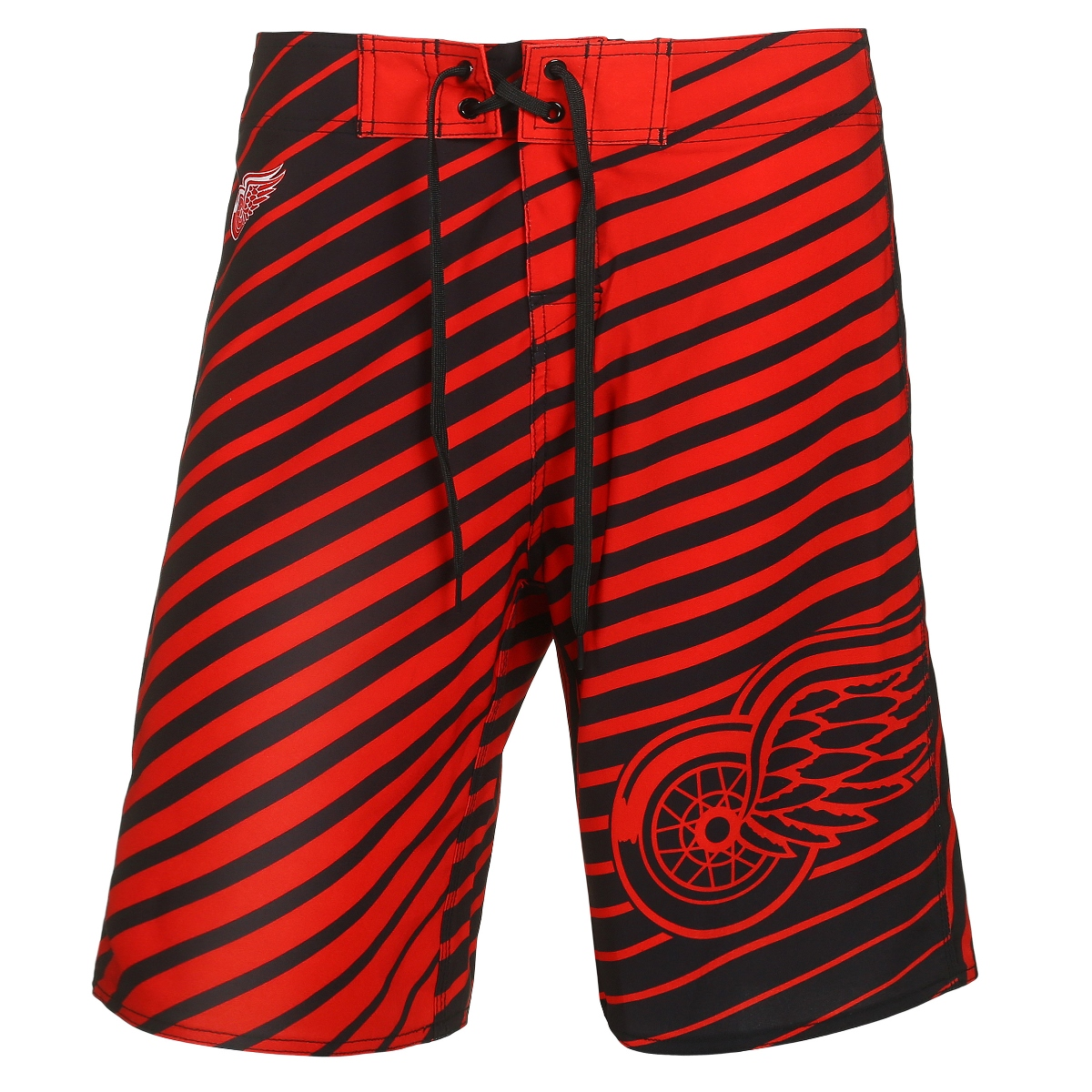 "Detroit Red Wings NHL ""Stripes"" Men's Boardshorts Swim Trunks"