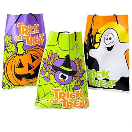 Rhode Island Novelty Assorted Halloween Theme Trick Or Treat Drawstring Goody Bags - 36 Units - 1 Design/Pkg - Cute Halloween Classroom Treats