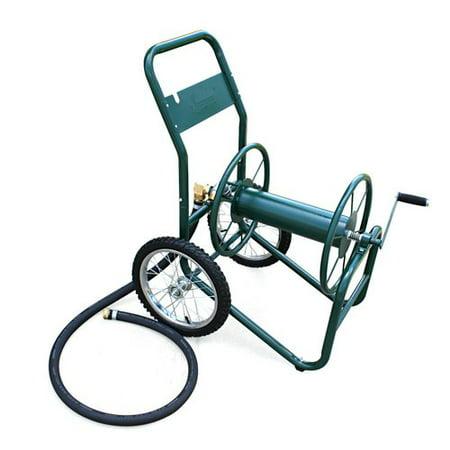 Ames Brass Hose Reel - Liberty Garden Industrial 2 Wheel Steel Hose Reel Cart
