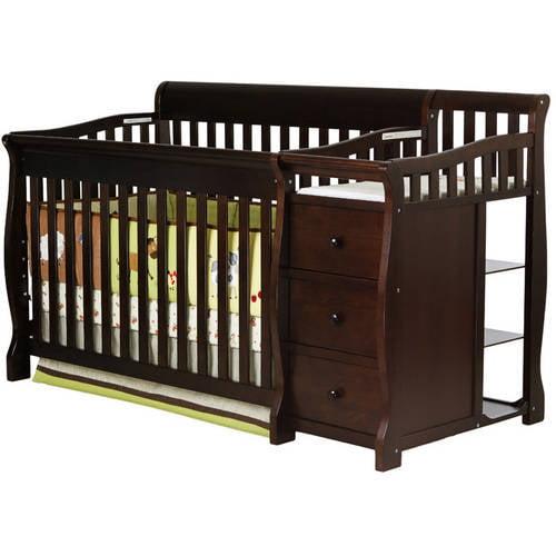 Dreamonme Brody 4-in-1 Crib & Changer Combo Espresso Box ...