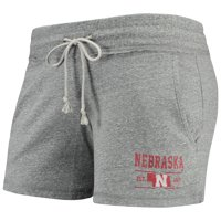 Women's Gray Nebraska Cornhuskers Pike Tri-blend Knit Shorts