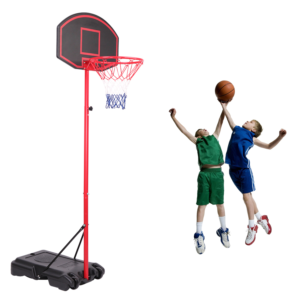 Portable Basketball Hoop System Stand Kids Youth Indoor Outdoor Sport w// Wheels