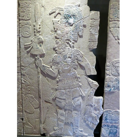 Peel-n-Stick Poster of Palenque Mexico Warrior Museum Archaeology Maya Poster 24x16 Adhesive Sticker Poster Print