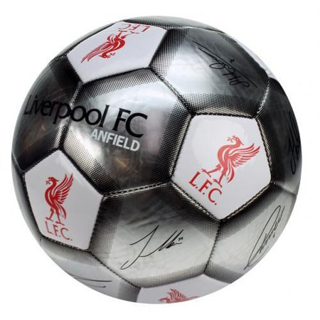 - EverythingEnglish Liverpool FC - Silver Size 5 Ball With Team Signatures