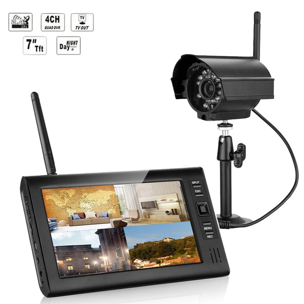 Ktaxon New Wireless 2.4GHZ 4CH Quad DVR Home Security Sys...