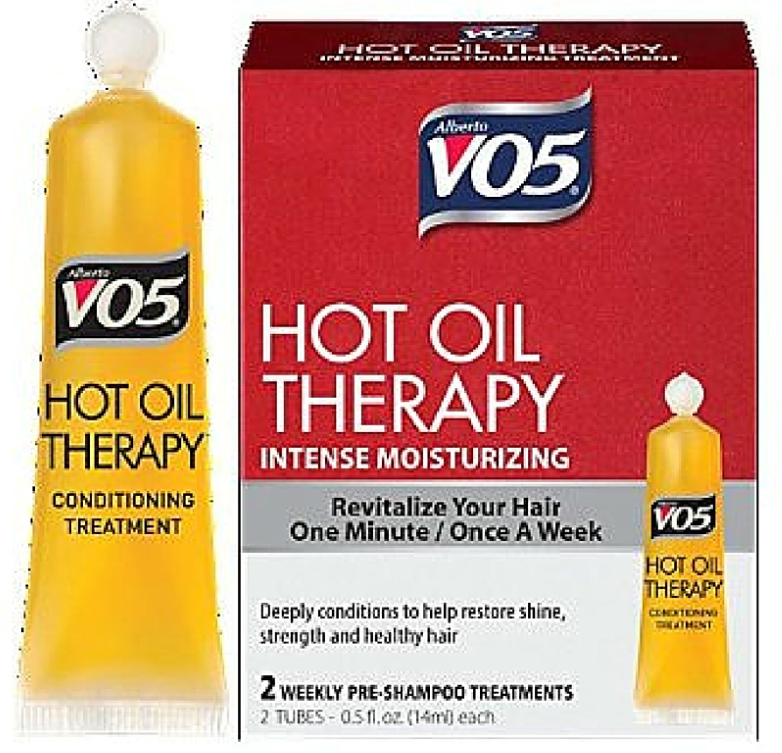 VO5 Hot Oil Therapy Intense Moisturizing Treatment, 2 count
